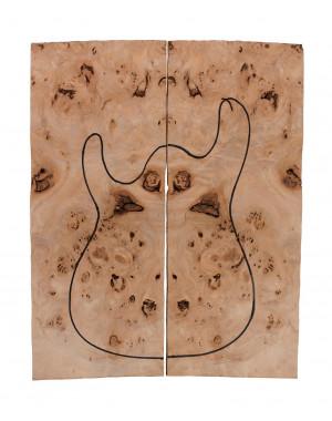 Tapa Body Poplar 2x(550x200x22 mm)