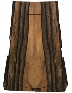Pinhole 100% FSC Ebony Back (550x200x4 mm.)x2
