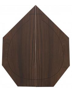 Madagascar Rosewood Backs (460x180x4 mm)x2