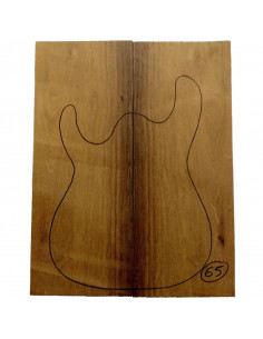 Madagascar Rosewood Body Top No 65 (550x200x22/24 mm)x2 (CITES)