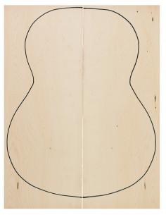 AA Birdseye Maple Classic Guitar Backs