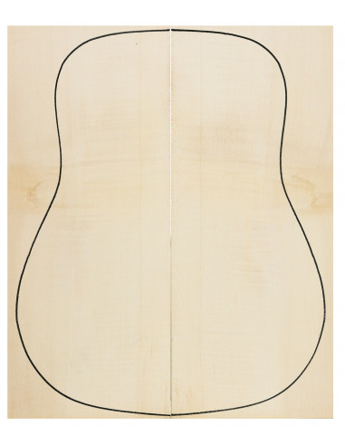 AA Curly Maple Backs for Acoustic Guitar