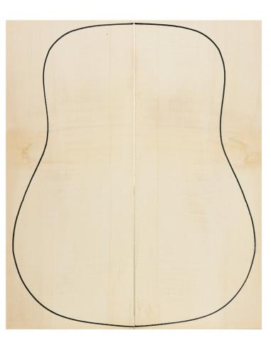 Fondos Arce Rizado 1ª Guitarra Acústica