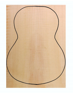 Classic Guitar Back Flame Maple Outer Face 0,6 mm + Sycamore Inner Face