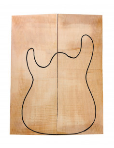 A Curly Maple Bass / Electric Guitar Body Tops