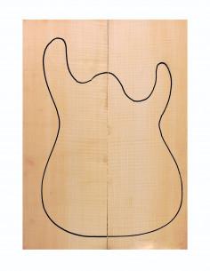 AAA Curly Maple Body (550x200x50 mm)x2