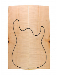 Master Curly Maple Bass / Electric Guitar Body Tops