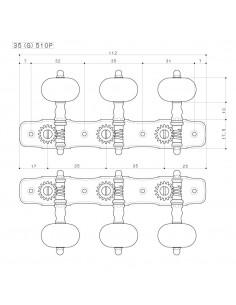 Gotoh® Machine Head 35G510P-P