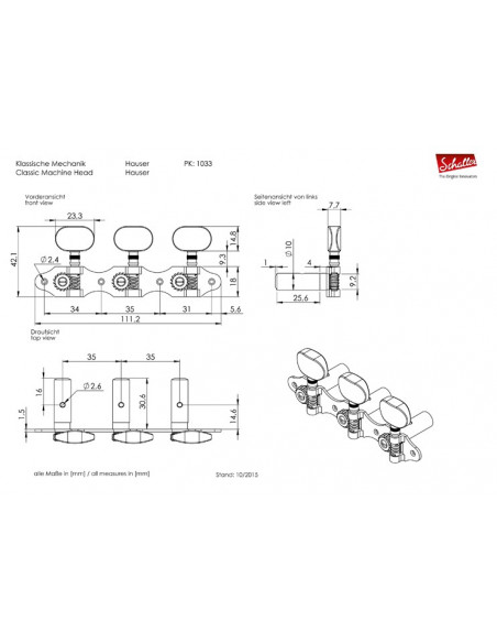 Clavijero Schaller HGO1-1 Oro