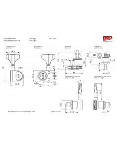 Clavijero Schaller Bajo BM Light 2+2 Cromo/Negro