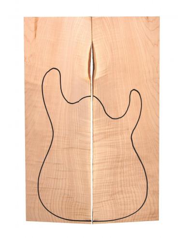AAA American Maple Body Top (550x200x22/24mm)x2