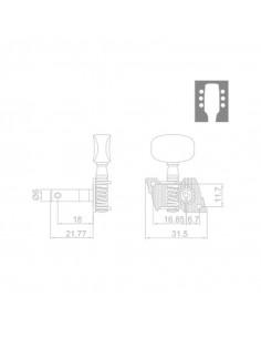 Clavijero Ping Well RM - 1253S 3+3
