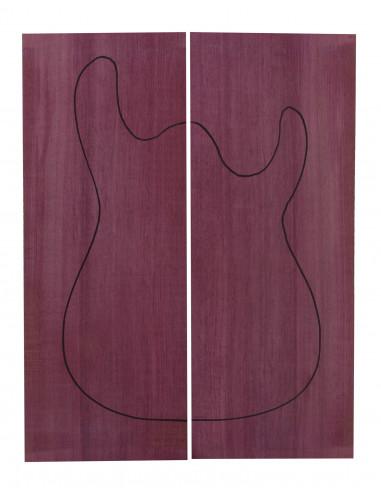 Tapa Body Purple Heart (550x200x22mm)x2