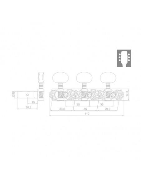Clavijero RM-1552G-17F