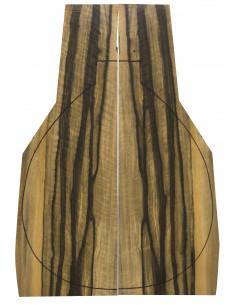 Exotic Ebony  Backs (460x180x4mm)x2