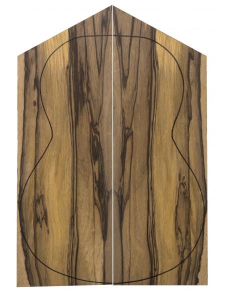 AAA Exotic African Ebony Back (550x200x4 mm.)x2