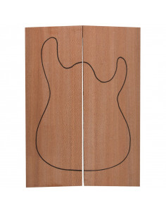 Body Brazilian Lacewood (550x200x50 mm)x2