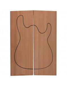 Tapas Cuerpo Brazilian Lacewood Guitarra / Bajo Eléctrico