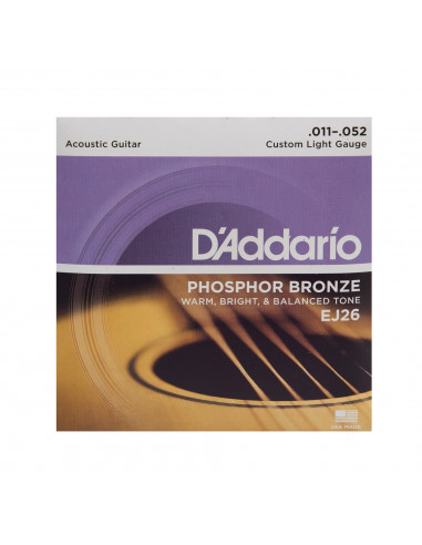 Acoustic G. EJ-26 D D'Addario Strings Set