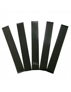 Set of 5 AAA Curly Ebony Fingerboards No. 74L for Electric