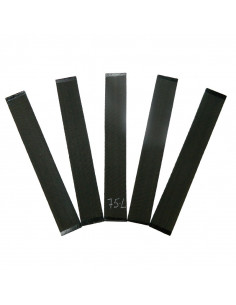 Set of 5 AAA Curly Ebony Fingerboards No. 75L for Electric