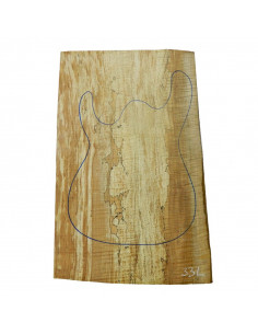 Spalted Maple Body 1 piece 33L for Electric