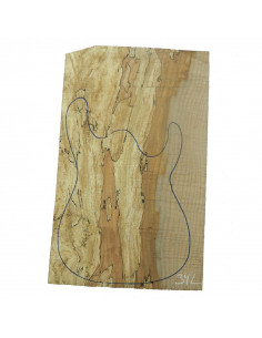 Spalted Maple Body 1 piece 34L for Electric