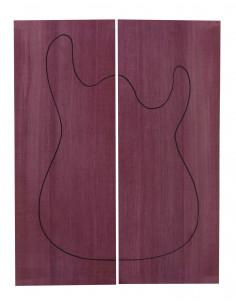 Carved Top Purple Heart Guitarra / Bajo Eléctrico