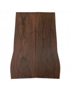Madagascar Rosewood Carved Top for Electric