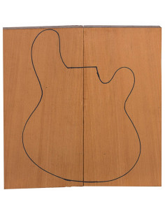 Mahogany Body Top (550x200x22 mm) x2 (CITES)