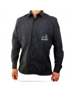 Blue Navy One Pocket Long Sleeve Shirt