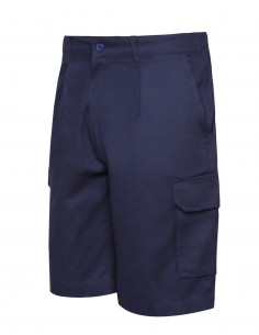 Blue Navy Side Pocket Bermuda