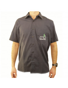 Camisa Manga Corta Un Bolsillo - Marino