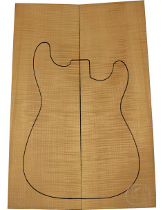 American Maple Body Top No. 151 for Electric Guitar