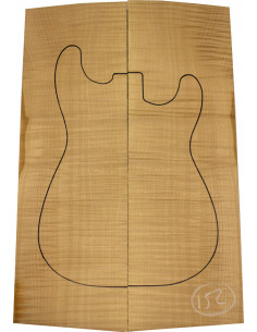American Maple Body Top No. 152 for Electric Guitar