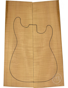 American Maple Body Top No. 158 for Electric Guitar