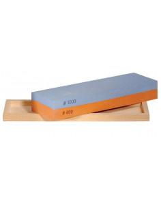 Piedra combinada de afilado al agua en caja de madera Pfeil (400/1000)