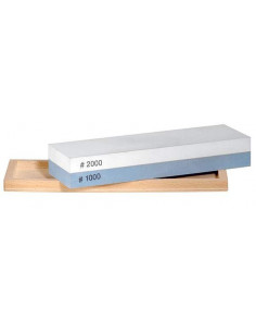 Pfeil Mixed Sharpening Stone in a wood showcase (1000/2000)