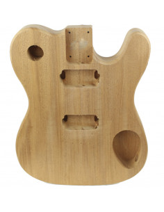 Electric guitar finished Mahogany FSC 100% Style Telecaster Body