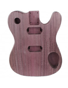Finished Purple Heart Style Telecaster Body