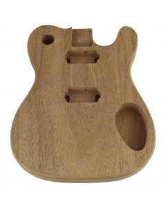 Finished African Mahogany Style Telecaster Body (1piece)