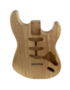 Finished African Mahogany Style Stratocaster Body (1piece)