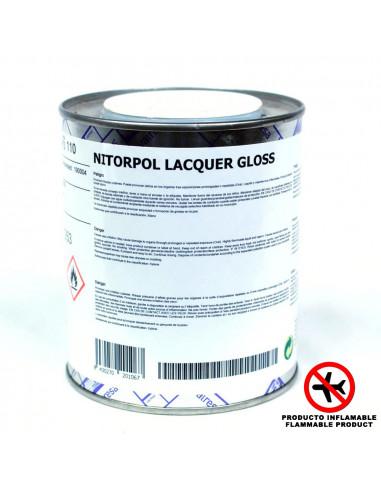 Laca Brillo NITORPOL (500ml) +  Endurecedor PU 004 (0,25l)