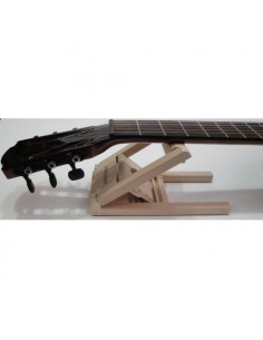 Wooden guitar neck rest foldable and adjustable