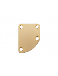 Gold neck curved plate
