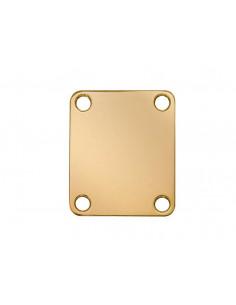 Placa para unión de mástil rectangular dorada