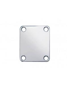 Placa para unión de mástil rectangular níquel