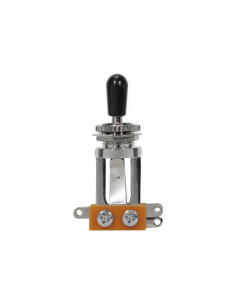 Long chrome toggle switch 3-way