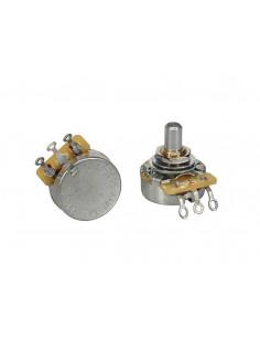 Potenciómetro de audio CTS USA 250 K casquillo corto. Eje sólido