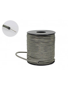 50 feet U.S.A. made shielded waxed cotton braided push back wire